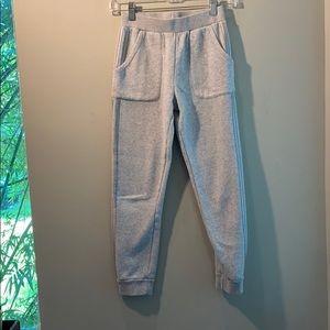 Adidas grey sweats, girls large